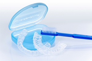 aligners and toothbrush